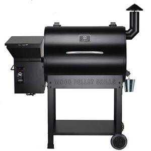 Z GRILLS ZPG-7002B Wood Pellet Grill & Smoker 8 in 1 BBQ 694 sq in, Black