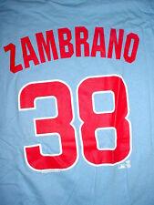 Mens Ladies Women Chicago Cubs Cubbies-Zambrano 38-Baseball Light Blue-T Shirt-M