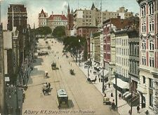 Albany State Street Broadway View New York NY Postcard