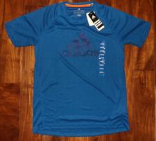 NWT Mens ADIDAS ClimaLite Essential Logo Short Sleeve Tee Shirt Blue Sz XL
