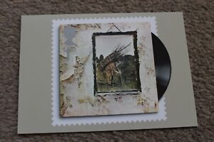 """LED ZEPPELIN IV Royal Mail Stamp 6x4"""" PHQ POSTCARD 2010 Classic Album Cover RARE"""