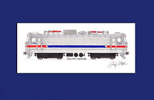 "SEPTA AEM-7 #2302 11""x17"" Matted Print Andy Fletcher signed"