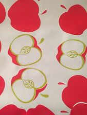Oil Cloth Teacher Valentines Red Apples Oil Cloth Craft Fabric BTY Retro