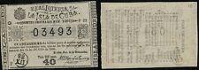 1 PESO. Real Lotería de la Isla 14 junio de 1889. Sorteo 1301 - Nº 03493. F 32.