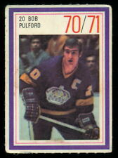 1970-71 ESSO POWER PLAYERS NHL #20 BOB PULFORD EX+ cond L A KINGS  UNUSED STAMP