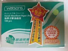 Watsons 500pcs Facial Blotting Papers Oil Sweat Free Makeup 100pc x5 Us Seller