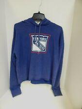 New York Rangers WOMENS Sweatshirt Hooded Blue Touch Sample -Medium