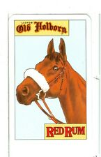 """Single Playing Card """"Old Holborn"""" Red Rum Horse"""