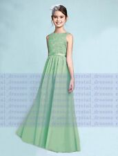 e55b8be4633 New Prom Lace Junior Flower Girl Dress Wedding Party Bridesmaid Dress 2-16  Years