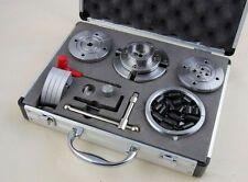 "4 GANASCE tornio legno Chuck Boxed Set 115mm m33 x 3.5 mm & 1"" x 8 TPI Filettatura"