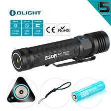 Olight S30R III Baton 1050 LM LED Taschenlampen Cree mit 3500mAh Akkus Ladegerät