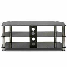 TV stand table unit Black glass used