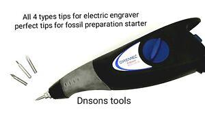 dremel,aldi,lidl,ozitto electric engraver tips for fossil preparation work