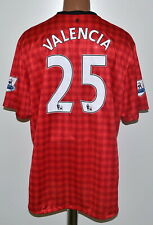 MANCHESTER UNITED 2012/2013 HOME FOOTBALL SHIRT JERSEY NIKE 25 VALENCIA SIZE XXL