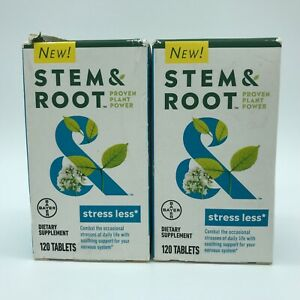 2 Bayer Stem & Root Proven Plant Power Stress Less 120 Tablets Ea. Exp: 11/2021