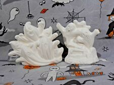 Halloween Spooky Ghosts (H18) Set of 2 Ceramic Bisque You Paint