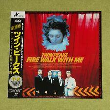 TWIN PEAKS Fire Walk With Me [David Lynch] - RARE JAPAN DOUBLE LASERDISC + OBI