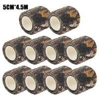 10 Rolls Military Bionic Camouflage Rifle Gun Wrap Hunting Camping Stealth Tape