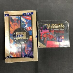 Marvel Masterpieces 1993 and 1994 Sealed Box One of Each Skybox