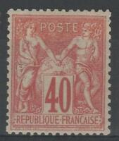 "FRANCE STAMP TIMBRE 70 "" SAGE 40c ROUGE-ORANGE TYPE I "" NEUF x TTB M863"