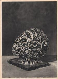 PABLO PICASSO - owl ceramic * very rare HELIOGRAVURE * VERVE 1951