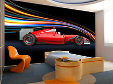 Photo Wallpaper Formula Race Red Car Giant Wall Decor Paper Poster For Bedroom