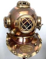 US Navy Mark V Antique Diving Divers Helmet Brass Steel Full Size Maritime Gift