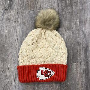 NFL Team Apparel Kansas City Chiefs Women's Winter Stocking Pom Cap