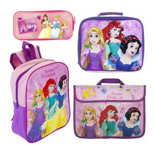 Disney Forever Princess Kids Girls Junior School Backpack Lunch Bag Pencil Case