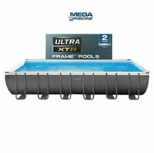 "Intex 26364 24ft x 1ft x 52"" Ultra Frame Above Ground Swimming Pool Sand Pump"