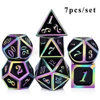 7 Pcs//Set Alloy Metal Dice Set Playing Game Poker Card Dungeons Dragons Party