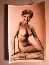 Altes Akt Foto / Erotik um 1950 / Schöne schlanke Frau ganz nackt
