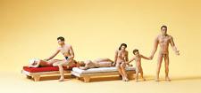 Preiser 10439 Couple/ Family At Nudist Beach HO Gauge Figures
