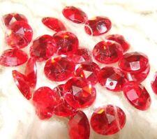Red Acrylic Round Jewellery Making Beads