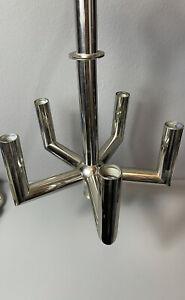 Sputniklampe Deckenlampe Leuchte Space Age Ufo  chrom silber Gewichte Vintage