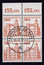 Gestempelte Briefmarken aus der BRD (1970-1979) mit Bauwerks-Motiv