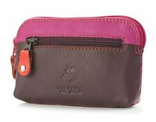 Visconti RB62 Multi Color Soft Leather Coin Purse Key Wallet With Key Chain (...