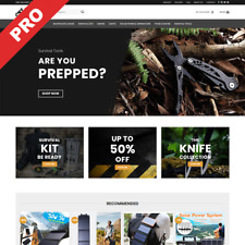 SURVIVAL STORE | Professional Dropshipping Website | Turn-Key Business For Sale
