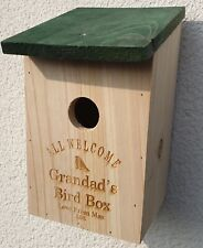 Personalised Bird House Engraved With Any Name And Message Gift Birthdays