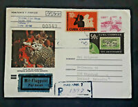 1991 Havana To Iceland Photo Coral Canarreos Airmail Registered Cover