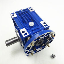 Ratio 100:1 NMRV063 90B14 Worm Gear Speed Reducer 24mm for 4 Pole Stepper Motor