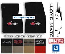 1958-1978 Impala - Velourtex Carpet Front Floor Mats - Choose Color & Logo