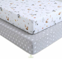 2 Pack Count Woodland Fox Fitted Crib Sheets By OptimaBaby
