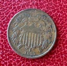 Etats-Unis - U.S.A. -   Rare  monnaie de  2 Cents 1870