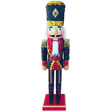 Christmas Nutcracker Figure Soldier Sparkling Navy Sequin Jacket and Hat N1516
