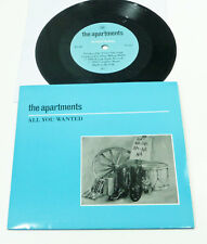 "THE APARTMENTS ""All You Wanted"" M- UK 80s Rough Trade 1986 INDIE PS 45"