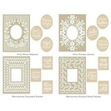Anna Griffin Mix & Match Trellis Frames Sentiments Emboss Folders -  NEW