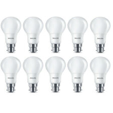 10x Philips LED Frosted B22 60w Warm White Bayonet Cap Light Bulbs Lamp 806 Lm