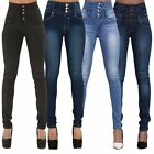Women High Waist Skinny Pencil Denim Jeans Stretch Slim Fitness Pants Trousers