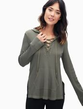 SPLENDID THERMAL LACE UP HOODIE  SIZE XS  MSRP$ 118